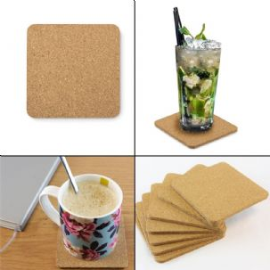 10cm Square Cork Coasters